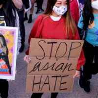 Protest sign from anti-asian racism protest